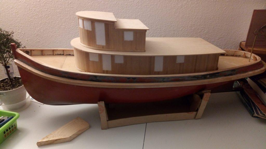 overall view of tug progress.